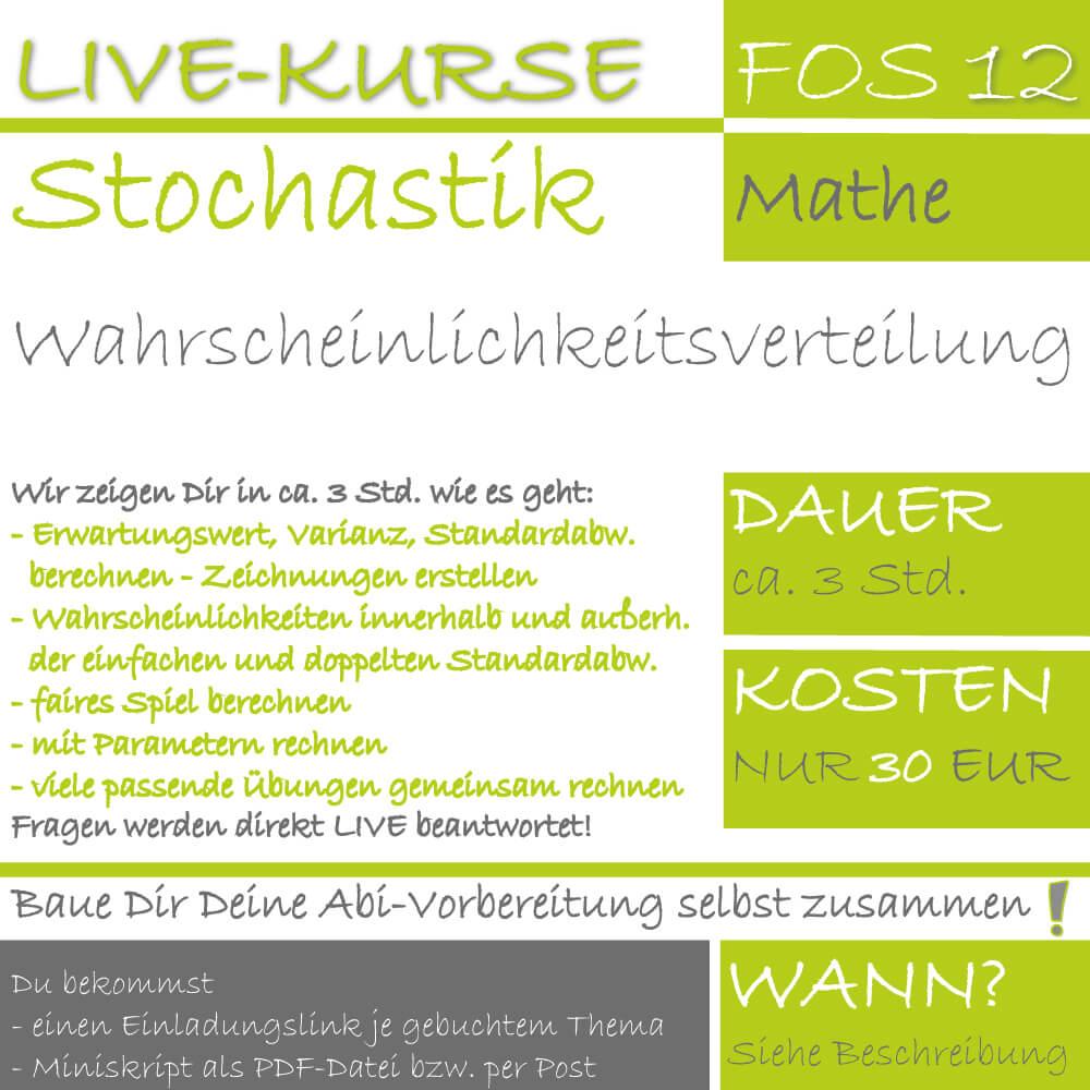 FOS 12 Mathe LIVE-EVENT Wahrscheinlichkeitsverteilung lern.de