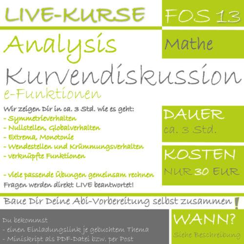 FOS 13 Mathe LIVE-EVENT e-Funktionen