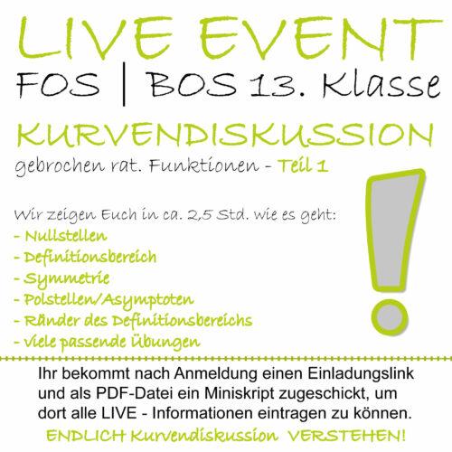 FOS 13 Mathe LIVE-EVENT Kurvendiskussion Teil 1