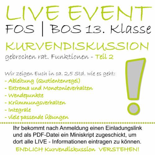 FOS 13 Mathe LIVE-EVENT Kurvendiskussion Teil 2