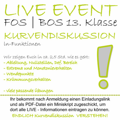 FOS 13 Mathe LIVE-EVENT ln-Funktionen