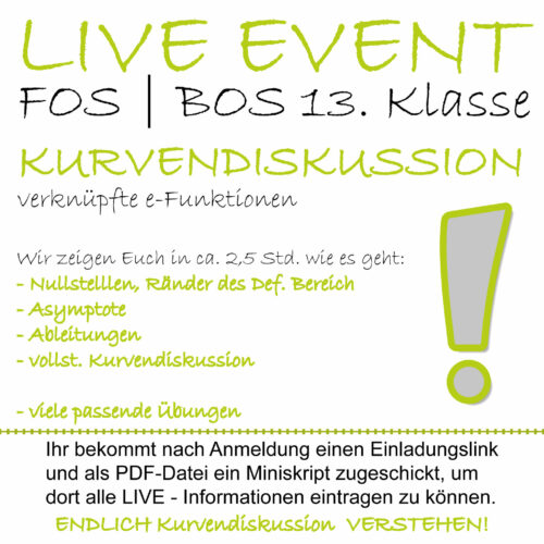 FOS 13 Mathe LIVE-EVENT e-Funktionen
