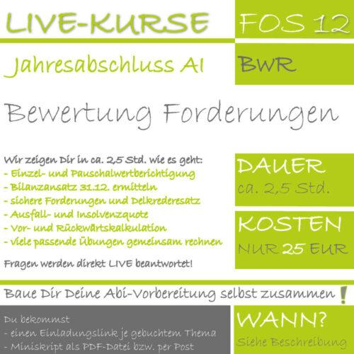 LIVE-EVENT FOS 12 BwR Bewertung von Forderungen lern.de GoDigital