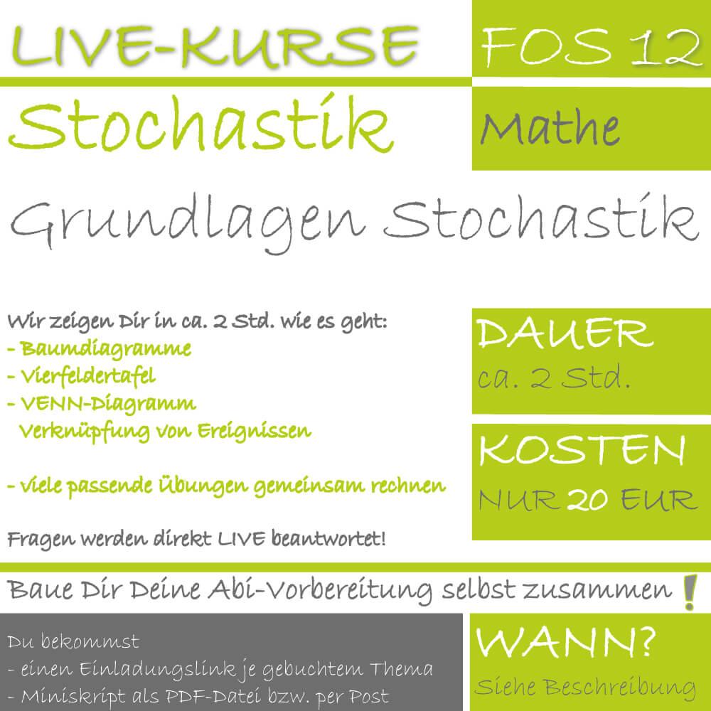 FOS 12 Mathe LIVE-EVENT Grundlagen Stochastik lern.de