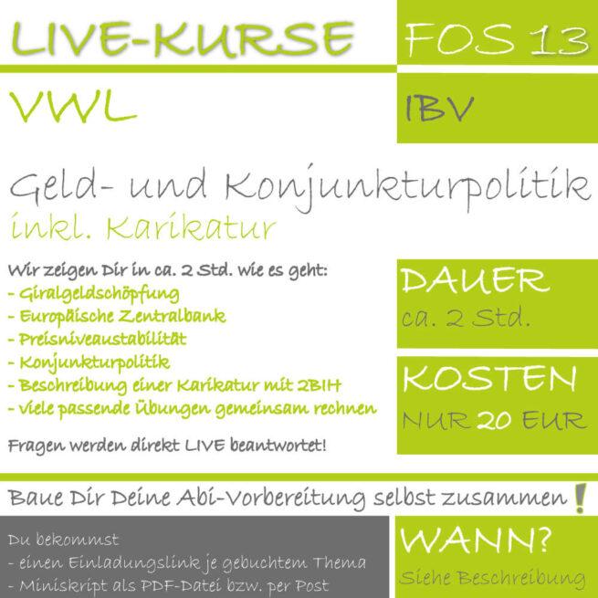 LIVE-KURS FOS 13 IBV Geld- und Konjunkturpolitik lern.de GoDigital