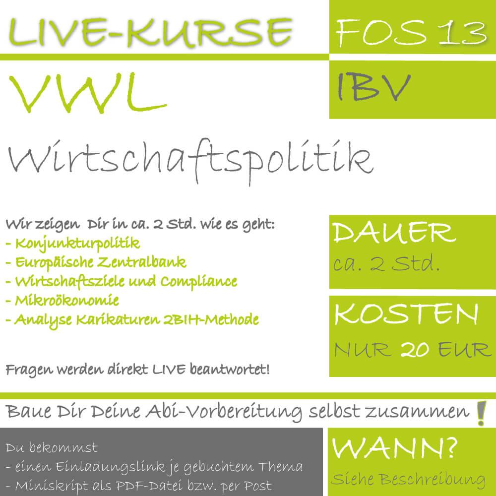 FOS 13 IBV LIVE-EVENT Wirtschaftspolitik lern.de