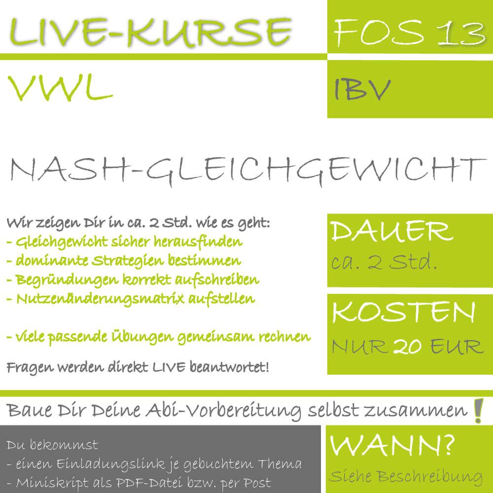 LIVE-KURS FOS 13 IBV Nash-Gleichgewicht lern.de GoDigital