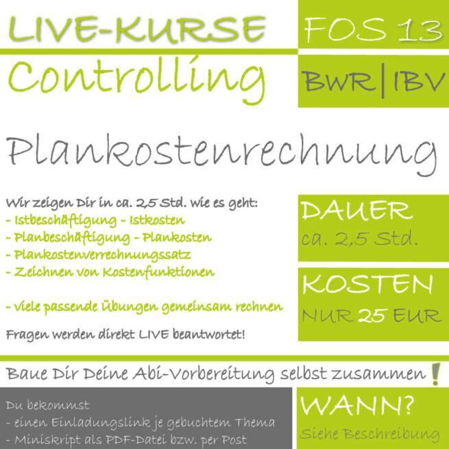 LIVE-KURS FOS 13 BwR | IBV Plankostenrechnung lern.de GoDigital