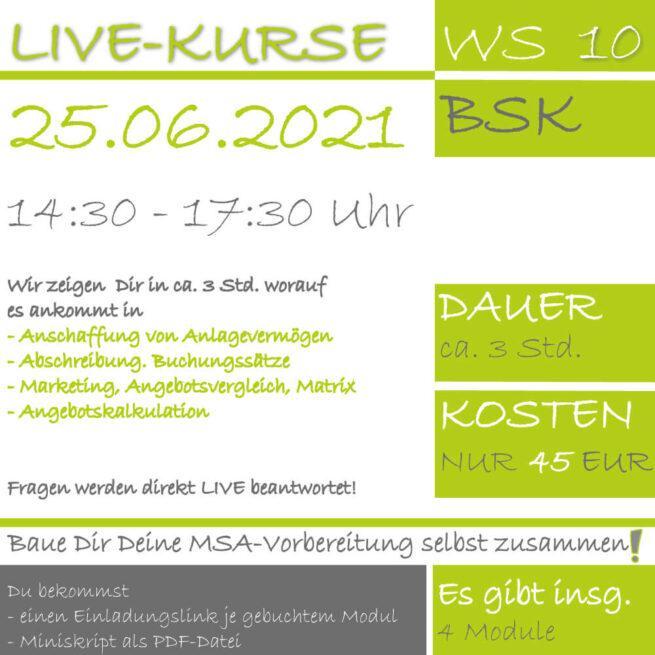 LIVE-KURS BSK 2021 Prüfungsvorbereitung lern.de