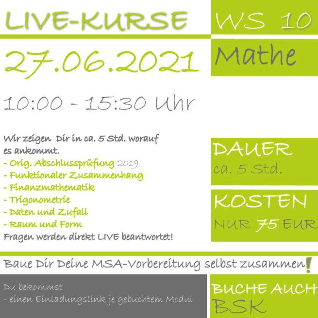 LIVE-KURS Wirtschaftsschule Mathematik 2019 Prüfungsvorbereitung lern.de