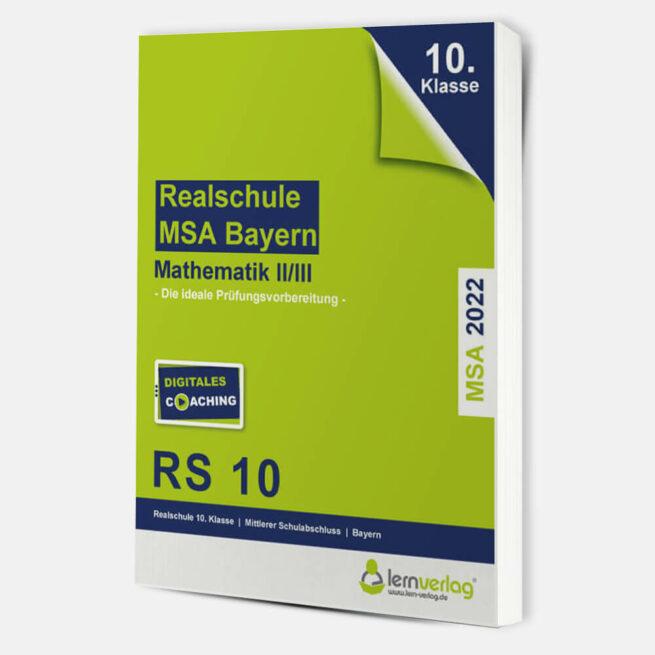 Original-Prüfungen Mathematik II/III Realschule Bayern 2022   ISBN 9783743000827